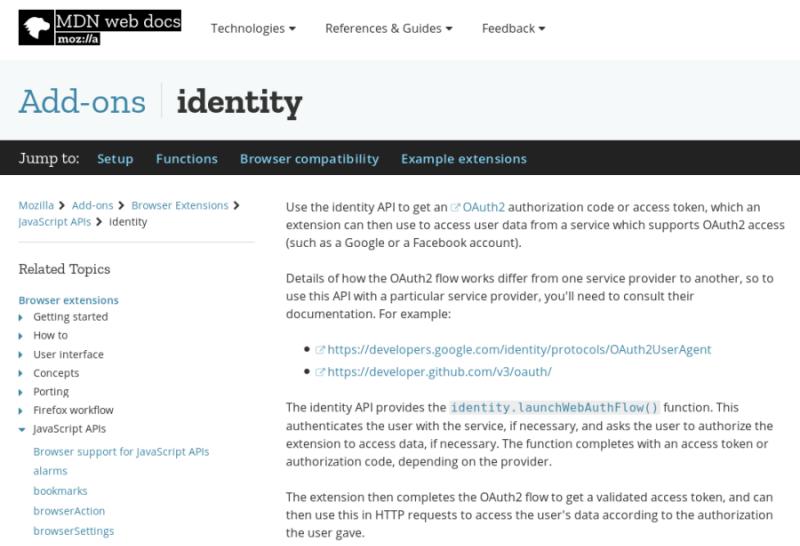 WebExtension status after Firefox 57